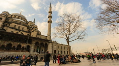 Busy and crowded streets of Eminonu Stock Footage