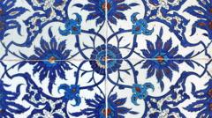Turkish tiles in Istanbul Turkey - stock footage