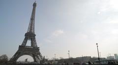 The Eiffel Tower (Tour Eiffel) - Paris, France Stock Footage