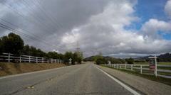 Hidden Valley Driving Time Lapse in Ventura County California. Stock Footage