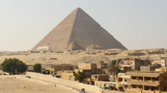 Zoom Out - The Great Pyramids of Giza - Egypt - stock footage