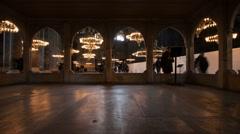 Istanbul, Turkey - Time Lapse footage of interior of Hagi - stock footage