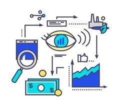 Stock Illustration of Icon Flat Style Design Vision Development