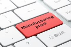 Industry concept: Manufacturing Plant on computer keyboard background Stock Illustration