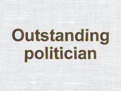 Political concept: Outstanding Politician on fabric texture background Stock Illustration