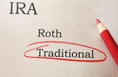 IRA choices circled Stock Photos