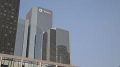 La Défense (Business District) Skyscrapers - Paris, France Stock Footage