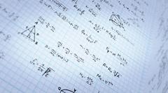Mathematics book - stock footage