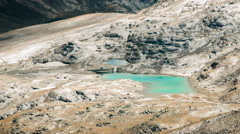 Alpine lake with cloud shadows passing Stock Footage