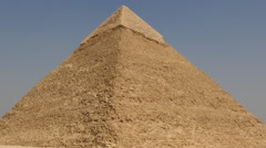 Zoom Out of Stone Pyramid - Giza - Egypt - stock footage