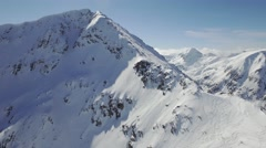 Swiss Alps Aerial Flight Rocky Mountains Winter Landscape Nature Beauty  UHD 4K - stock footage