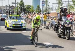 The Cyclist Michael Rogers - Tour de France 2015 - stock photo