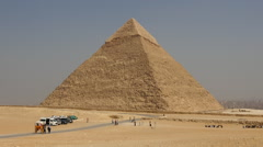 Stone Pyramid at the Great Pyramids- Giza - Egypt - stock footage