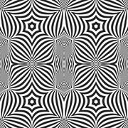 optical art abstract striped seamless deco pattern. - stock illustration