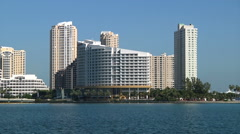 Mandarin Oriental Hotel and buildings, Miami, as seen from Brickell Stock Footage