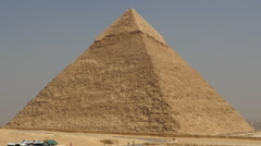 Zoom Out of Stone Pyramid - Giza - Egypt Stock Footage