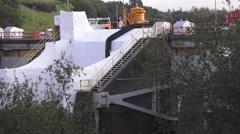 American River dams, Folsom and Nimbus - stock footage