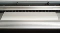 Start printing plotter large format printer Stock Footage