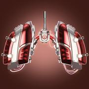 Lungs robot concept Stock Illustration