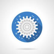 Influenza icon blue round flat vector icon - stock illustration
