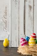 Easter is so happy time! Stock Photos