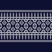 Geometric Ethnic pattern design for background or wallpaper. Stock Illustration
