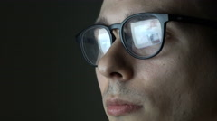 Portrait of Programmer working in glasses 4k UHD (3840x2160) Stock Footage