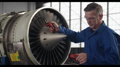 Jet Engine Turbine Repair HD Stock Footage