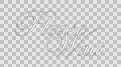 Please Wait Calligraphy Animation with Alpha Channel [white] Stock Footage