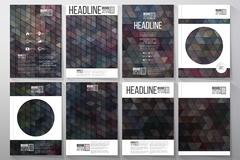Business templates for brochure, flyer or booklet. Graffiti wall. Collection of - stock illustration