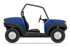 atv car buggy off roads vector illustration - stock illustration