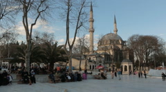 Everyday thousands of people visit  Eyup Sultan Stock Footage