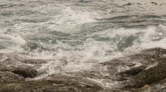 Rainy day coastline storm waves 4k phuket thailand Stock Footage
