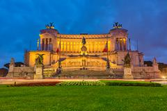 Victor Emmanuel monument in Rome - stock photo