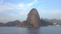 Rio de Janeiro skyline with Christ the Redeemer and Sugarloaf mountain Stock Footage