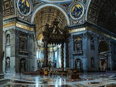 Papal Basilica of St. Peter in Vatican, Rome, Italy Stock Photos
