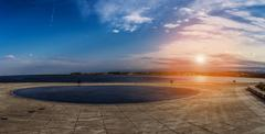 Sea organ is an architectural object located in Zadar, Croatia - stock photo
