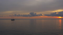 Phuket island sunset sky beach yacht park panorama 4k thailand Stock Footage