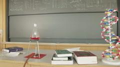 Science Classroom - Chalkboard HD Stock Footage