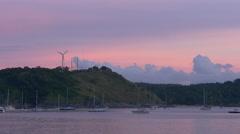 Pink sunset sky beach mountain panorama 4k phuket thailand Stock Footage
