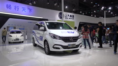 Electric vehicles, Chinese car maker, zero emissions, innovation, environment Stock Footage