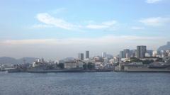 Rio de Janeiro skyline historic center and navy of Brazil Stock Footage