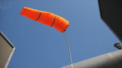 Wind sock with blue sky Stock Footage