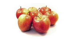 Apples Rotating On Plain Background Stock Footage