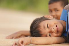 Thai orphan kids - stock photo