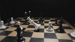 slow motion decline of the King - stock footage
