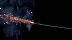 Slow motion  burning fuse Stock Footage