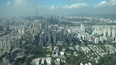 The skyline of modern Shenzhen city, China Stock Footage