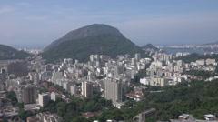 Rio de Janeiro city view from Santa Marta favela slum, Brazil - stock footage