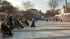 Istanbul,Turkey - Everyday thousands of people visit  Eyup S Stock Footage